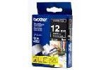 Brother TZ-335 Tape White on Black, Laminated, 12mm, 8m - Ecos