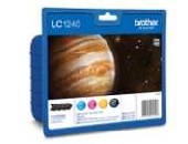 Brother LC-1240 BK/C/M/Y Value Bonus Pack Ink Cartridge for MFC-J6510/J6910